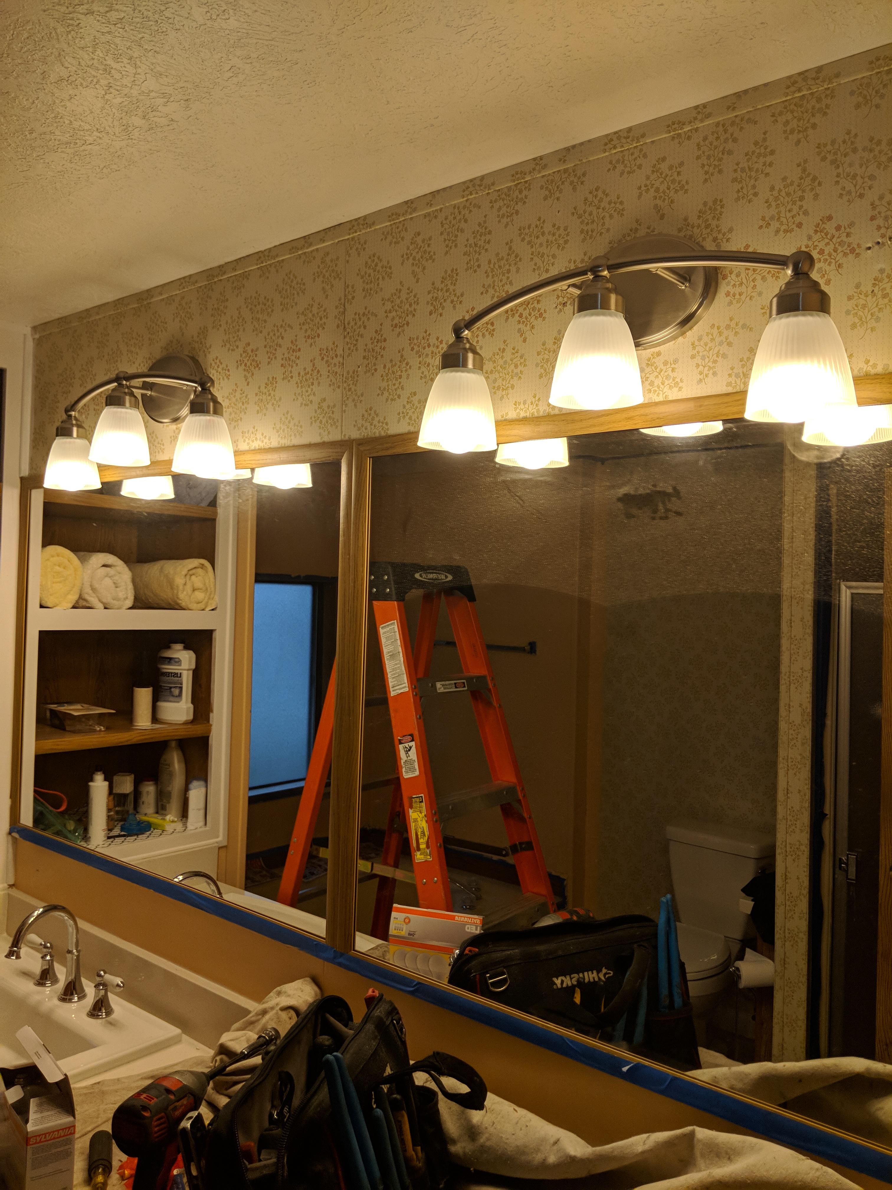 Bathroom lighting project