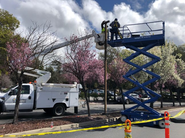 Street Lamp Replacement by Rocklin Electric